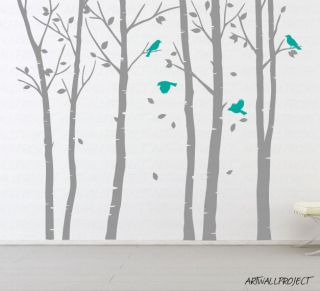 birch tree decal