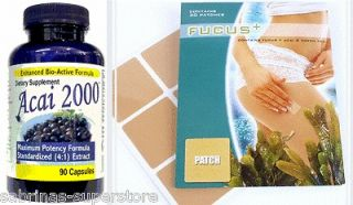 2000mg ACAI Berry Plus Fucus Green Tea Patch Slimming Dieting Pills