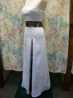 Custom Made in the USA CAMO Column/Sheath Fitted Wedding Prom Gown