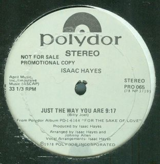 70S SLOW JAM ISAAC HAYES   JUST THE WAY YOU ARE 12 PROMO Billy Joel