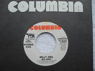 BILLY JOEL   Big Shot 1978 1st US WL PROMO 7 Single   Long/Short