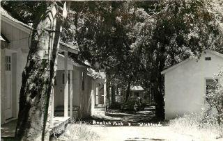 Photo Postcard Cabins, Beulah Park 3, Wicklund Ohio, Hamilton Co