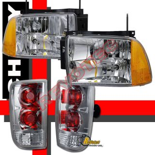 95 96 97 CHEVY BLAZER S10 LT LS HEADLIGHTS & TAIL LIGHTS LAMPS 4PCS