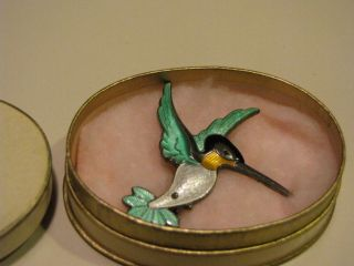 Volmer Bahner Sterling Brooch/Pin Humming Bird Denmark