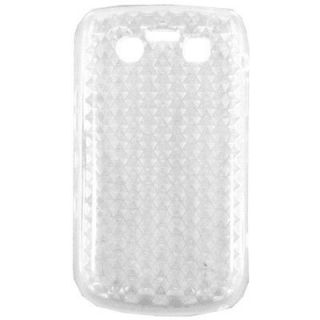 For Blackberry Bold 9790 Purple Gel soft Rubber cell case cover skin