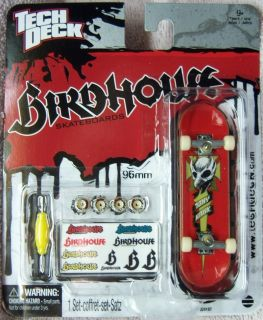 TONY HAWK BIRDHOUSE Tech Deck 96 mm Fingerboard White Trucks NEW