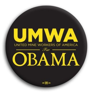 UMWA United Mine Workers America Democratic Obama Pin