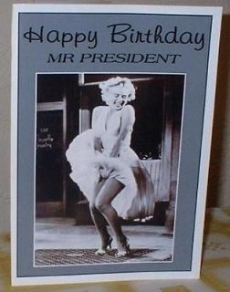 Marilyn Monroe Personalised Birthday / Greetings / Christmas / Get