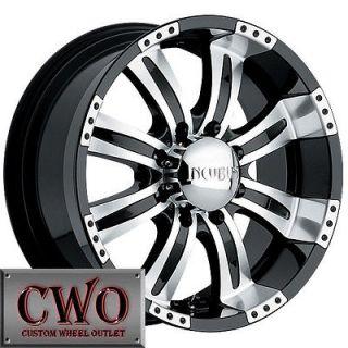 18 Black Incubus Poltergeist Wheels Rims 5x127 5 Lug Chevy C1500 Jeep