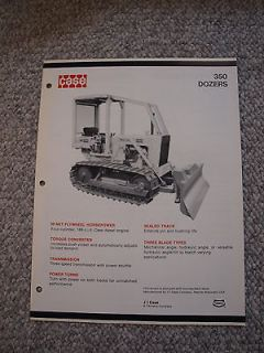 Case 350 Crawler Dozer Tractor Brochure 4 pg. Original MINT 74