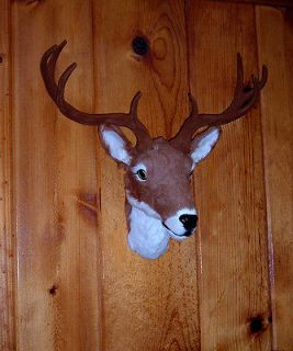 Whitetail Deer Buck Head Mount FURRY ANIMAL REPLICA DR471a FREE