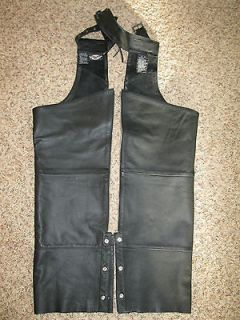 Harley Davidson Youth Size M Medium Leather Chaps
