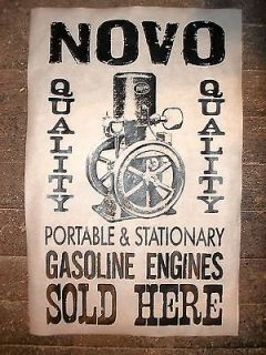 POSTER NOVO STATIONARY HIT & MISS GAS ENGINES SOLD HERE 18X30 (075
