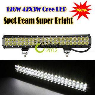 126W 20 Cree Led Work Light Bar Spot Beam Fog Lamp 8820 LM Car Truck