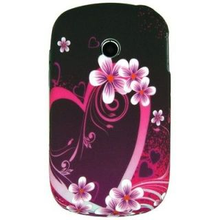 LG 800G designer Heart flowers rubberized GEL cell phone cover case