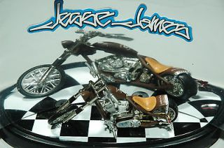 Machines West Coast Choppers CHANGO BLANCO Jesse James Bike 1:64 2004