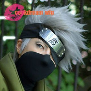 Hot Sell! Kakashi SOUL EATER Anime Silvery white Short Cosplay Wig