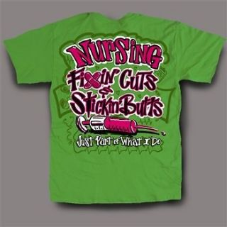 NEW Hot Gift Sweet Thing Funny Nurse Fixin Cuts Neon Green Girlie