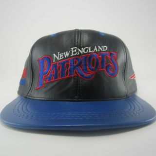 VTG New England Patriots Tom Brady Leather Biker Motorcycle Snapback