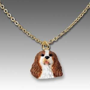 NEW* CAVALIER KING CHARLES BLENHEIM Dog Necklace RETIRED LAST TWO
