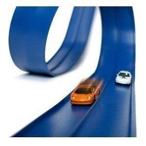 Blutrack 24 Ft Stunt Pack Set Travel Hot Wheels Matchbox Cars Race