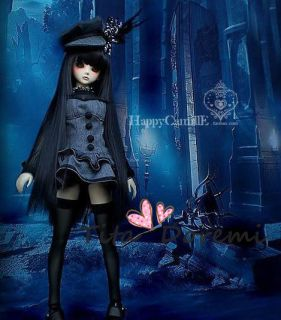 Dal.Pullip.BJD .SD LUTS BLYTH Doll LONG BLACK wig hair 18