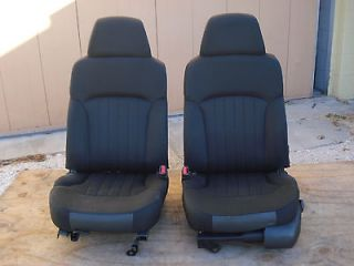 2004 BUCKET SEATS CHEVY S10 TRUCK BLAZER SONOMA DARK GRAY BLACK POWER
