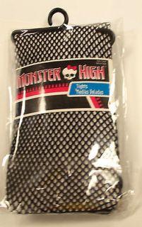 Monster High Black Fishnet Tights Child 4 6 7 10 NIP