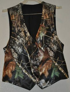 NEW Camo Wedding Vest/ CHILDS  SATIN CAMO ***sz 7 thru 14