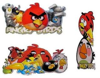 ANGRY BIRDS LARGE WALL STICKERS FROM ANGRY BIRDS GAME 46X24cm