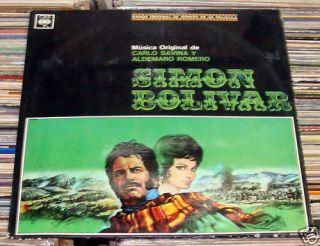 CARLO SAVINA ALDEMARO ROMERO SIMON BOLIVAR OST VG+ LP