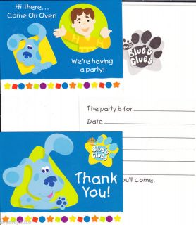 BLUES CLUES Birthday Party Supplies ~ HTF INVITATIONS