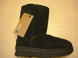 BN EMU Australia Black Bush Ranger Sheepskin Boot Avail. 7 to 2