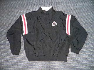 90s Mens Fila Zip Up Light Jacket M Medium Black Red White Grant Hill
