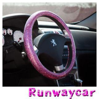Runwaycar Bling Pink Steering wheel cover Size  L