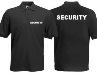 SECURITY Printed POLO SHIRT Front & Back   FREE P&P