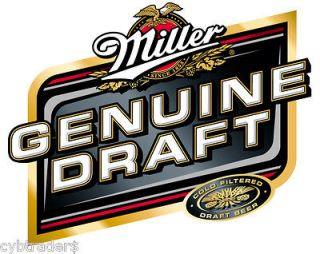 Miller Genuine Draft Beer Label Refrigerator Magnet