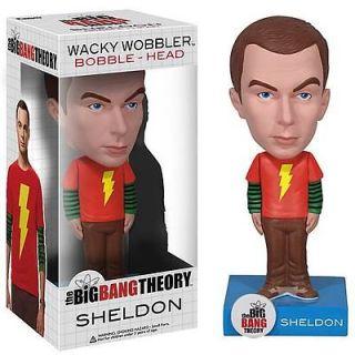 Exclusive Big Bang Theory Sheldon Shazam Shirt Bobble Head