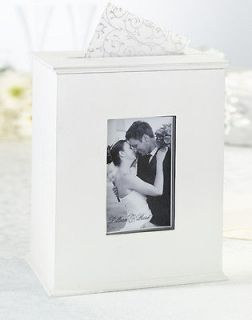Rose Wedding Card Keepsake Box Photo Holder with Picture Window