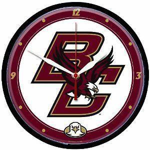 Dorm Bar Decor NCAA Boston College Eagles Round Clock