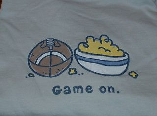 NWT $32 Mens Life is Good Gray LS Crusher Tee Game On Football