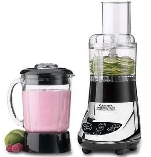 Cuisinart Duet Glass jar Blender & Food Processor fpb 5ch Chrome