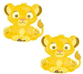 KING simba balloons 2 PACK birthday baby shower party decorations nw
