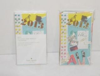 Kate Spade 2013 Calender and Personal Date Book Block Refill Set