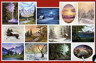 BOB ROSS, 3 disc DVD SET, Series 19 Teaches13 Paintings