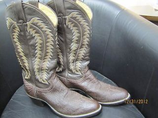Pristine Vintage Pair of Justin Elephant Cowboy Boots in 8 B