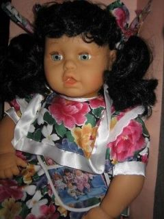 LARGE LISSI BABY DOLL BLACK HAIR BLUE EYES BONITA MIB SO CUTE