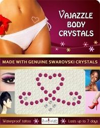 VAJAZZLE TEMPORARY CRYSTAL BODY TATTOOS –BODY BLING RHINESTONE