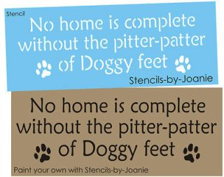 Home Complete Paw Print Pitter Patter Dog Feet U Paint Kennel Signs