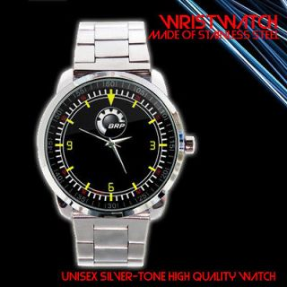 BOOTS SKI DOO SNOWMOBILE CAN AM OUTLANDER BOMBARDIER SILVER WRISTWATCH